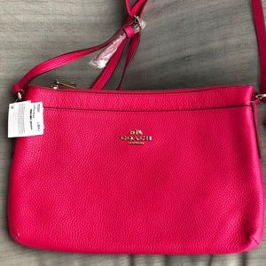 NWT Coach Leather Hot Pink Crossbody